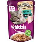 Влажный корм Whiskas Мясная коллекция для кошек, кролик в желе, 85 г