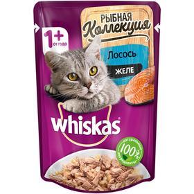 Влажный корм Whiskas Мясная коллекция для кошек, лосось в желе, 85 г