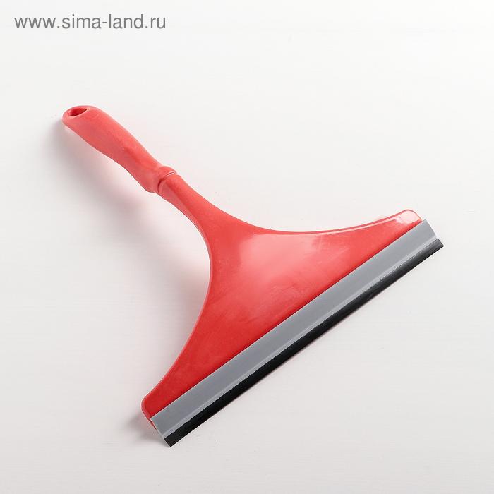 Водосгон с изогнутой ручкой, рабочая поверхность 23 см, цвет МИКС