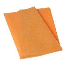 Салфетка бытовая для пола PRIDE «Универсальная», 50×60 см, вискоза, цвет оранжевый Ош