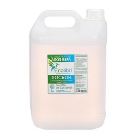 Антисептик для рук Ecolibri с антибактериальным эффектом, лосьон, 5 литров Ош