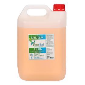 Антисептик для рук Ecolibri с антибактериальным эффектом, гель, 5 литров Ош