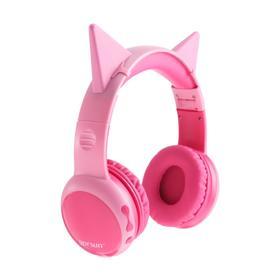 Наушники Gorsun E61, Bluetooth, розовые