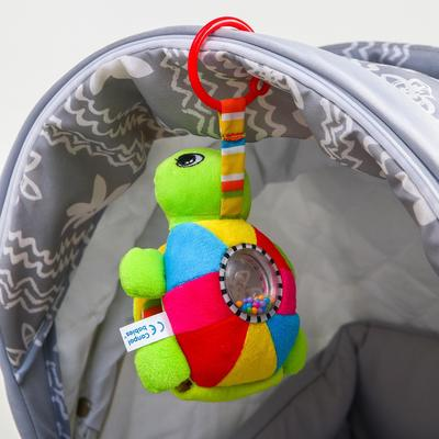 Подвеска музыкальная мягкая «Морская черепаха», с погремушкой, шуршалкой - Фото 1
