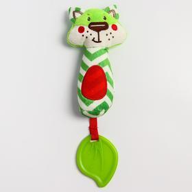Развивающая игрушка «Лесные  друзья. Лисенок», с прорезывателем и пищалкой