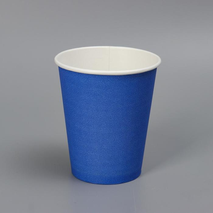 Стакан Синий, для горячих напитков 250 мл диаметр 80 мм