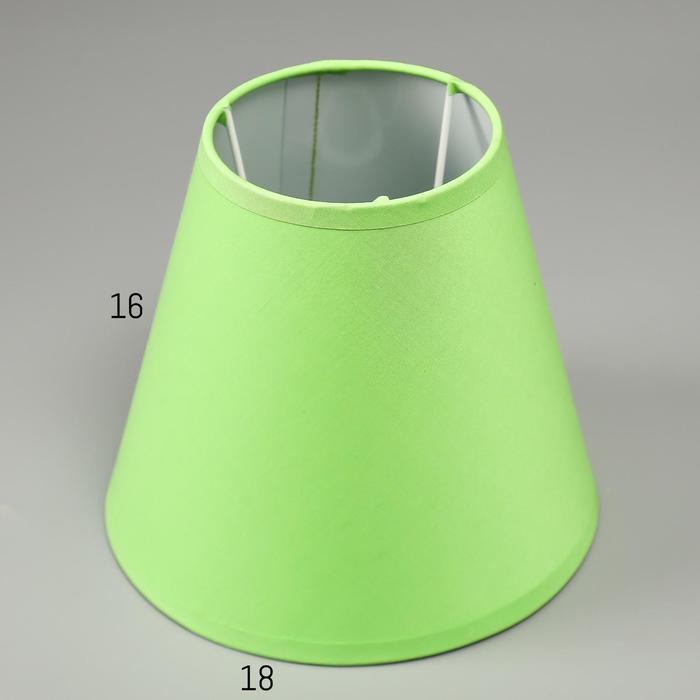Абажур Е14, цвет зеленый, 10х18х16 см