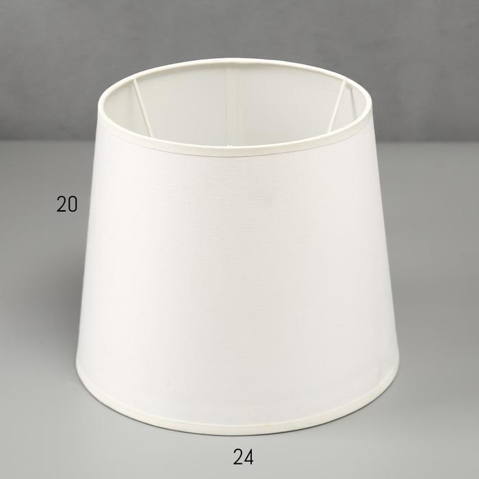 Абажур Е27, цвет белый, 19х24х20 см