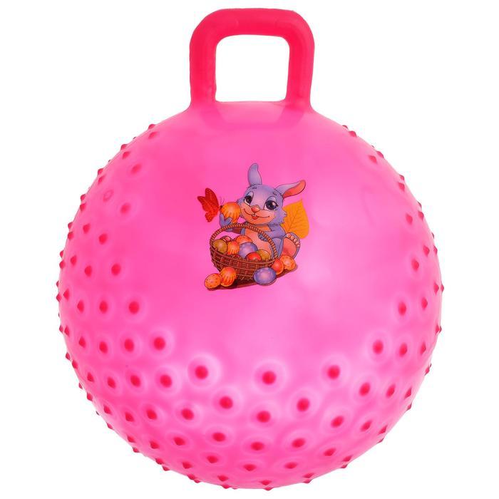 Мяч прыгун с ручкой Сказочные истории, массажный, d45 cм, 350 г, МИКС