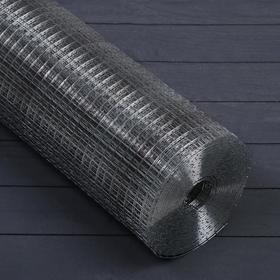 Сетка оцинкованная, сварная, 1,2 × 10 м, ячейка 12,5 × 12,5 мм, d = 1 мм, металл Ош