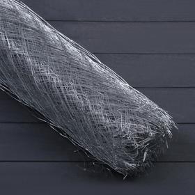 Сетка оцинкованная ЦПВС, мягкая, 1 × 10 м, ячейка 25 × 25 мм, d = 0,5 мм, металл Ош