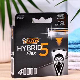 Сменные кассеты BIC 5 FLEX  HYBRID 5 лезвий, 4 шт.