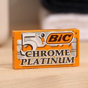 Лезвия BiC PLATINUM chrome на карте, 20 упаковок по 5 шт.