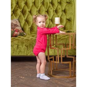 Боди-водолазка детская, цвет светло-вишневый, рост 80 см