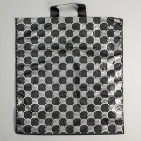 """Пакет """"Серебряные соты"""" полиэтиленовый, с петлевой ручкой, 40х44 см, 43 мкм"""