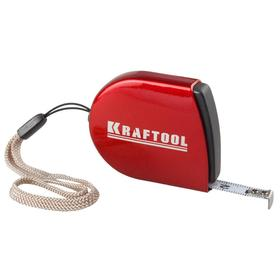Рулетка Kraftool 34149-02, компактная с металлическим корпусом, 2х8 мм
