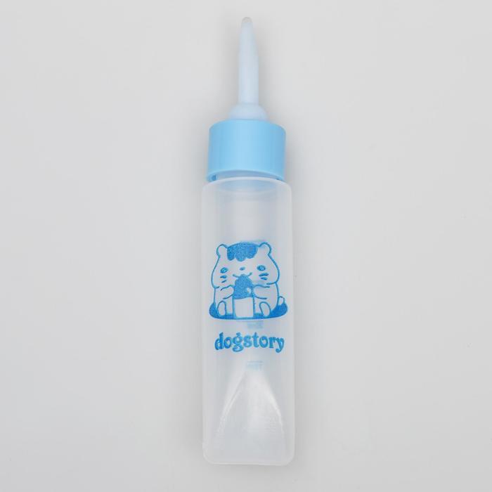 Бутылочка для вскармливания грызунов 30 мл с силиконовой соской (длинный носик), микс