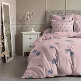 Постельное бельё 1,5сп Ночь Нежна «Розочки», цвет розовый 145х215см, 150х214см, 70х70см-2шт