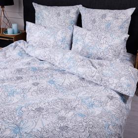 Постельное бельё 1,5сп Ночь Нежна «Сара», цвет серый 145х215см, 150х214см, 70х70см-2шт