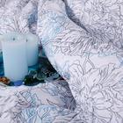 Постельное бельё 1,5 сп «Ночь Нежна» Сара серый 145х215см, 150х214см, 70х70см -2 шт - Фото 3