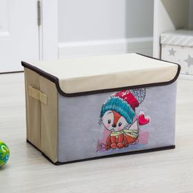 Короб для хранения с крышкой «Лисёнок», 39×25×25 см Ош