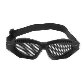 Очки для езды на мототехнике, грязезащита, армированные, цвет черный Ош