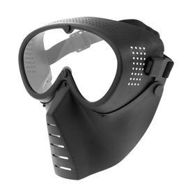 Очки-маска для езды на мототехнике, визор прозрачный, черный Ош