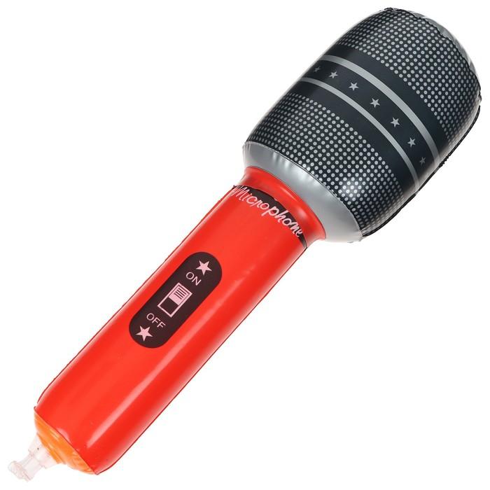 Игрушка надувная Микрофон, 25 см, цвета МИКС