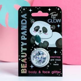 Глиттер для лица и тела Beauty panda, 5 мл Ош