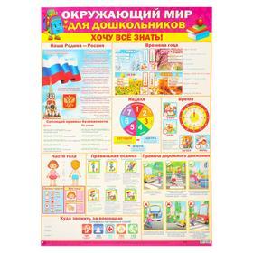 """Плакат """"Окружающий мир для дошкольников"""""""