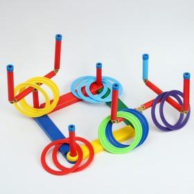 Кольцеброс '3D профи',  7 разновысотных стоек, 14 колец, микс Ош