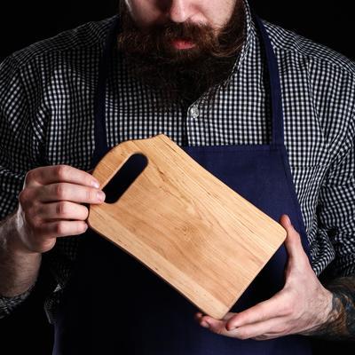Доска разделочная, для сыра и капкейков, 21х13х0,8 см, массив ольхи - Фото 1
