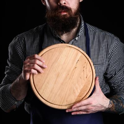 Доска для пиццы, d=27х1,5 см, массив ольхи - Фото 1