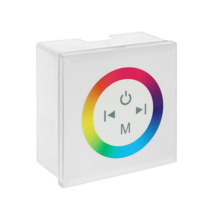 Контроллер Ecola, для RGB ленты, 12 В, 144 Вт, 12 А, IP20, с кольцевым сенсором, белый