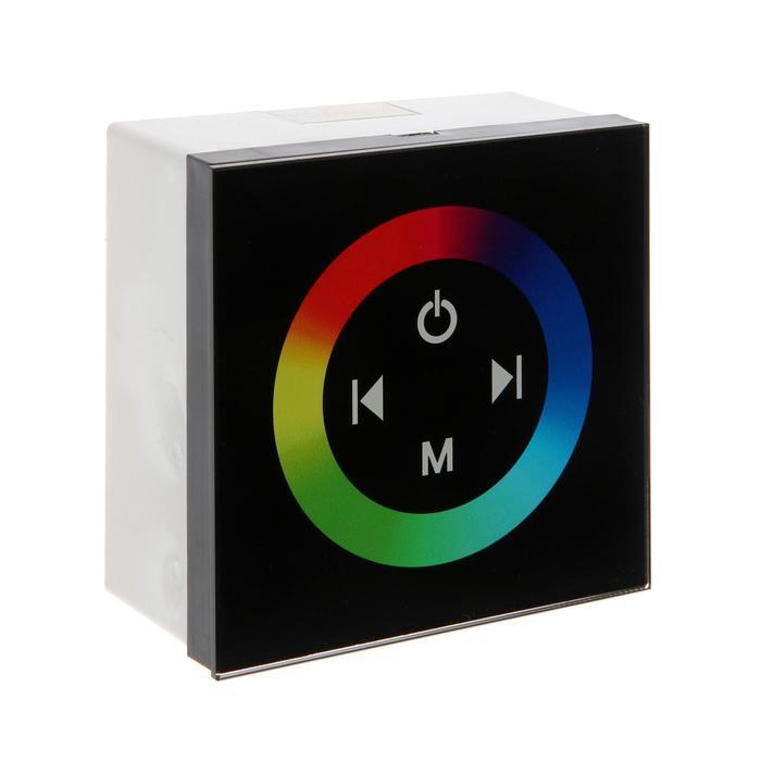 Контроллер Ecola, для RGB ленты, 12 В, 144 Вт, 12 А, IP20, с кольцевым сенсором, черный