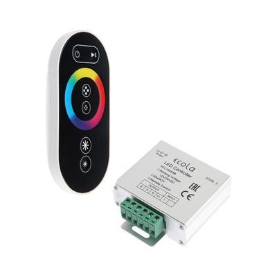 Контроллер Ecola, для RGB ленты, 12 В, 216 Вт, 18 А, черный сенсорный радиопульт