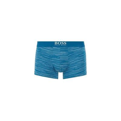 Трусы мужские Hugo Boss Trunk Lines, размер S, цвет голубой с принтом