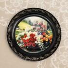 Тарелка декоративная «Цветы», D=18 см, лаковая миниатюра, микс