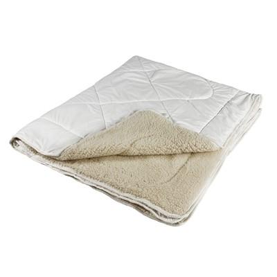Одеяло Миродель Меринос теплое, шерсть мериносовой овцы, 145*205 ± 5 см, поликоттон, 250 г/м2 - Фото 1