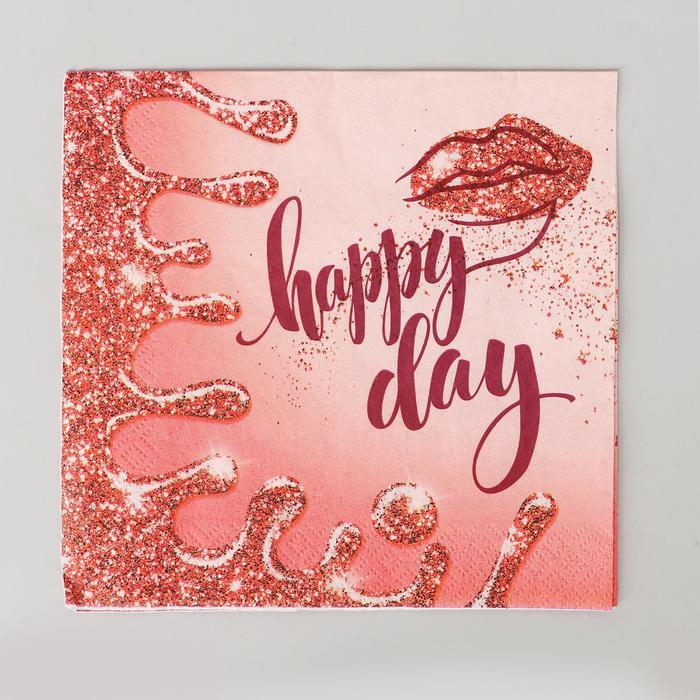 Салфетка бумажная Happy Day 33х33 см, набор 12 шт.