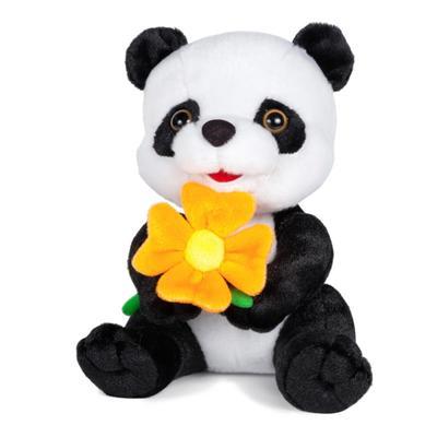 Мягкая игрушка «Панда с цветочком» озвученная, 22 см - Фото 1