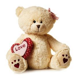 Мягкая игрушка «Мишка Лина с сердцем», 30 см