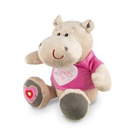 Мягкая игрушка «Бегемот Боня в маечке с сердцем», 23 см