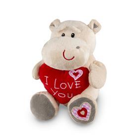 Мягкая игрушка «Бегемот Боня с сердцем», 23 см