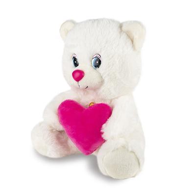 Мягкая игрушка «Мишка с сердцем» озвученный, 21 см - Фото 1