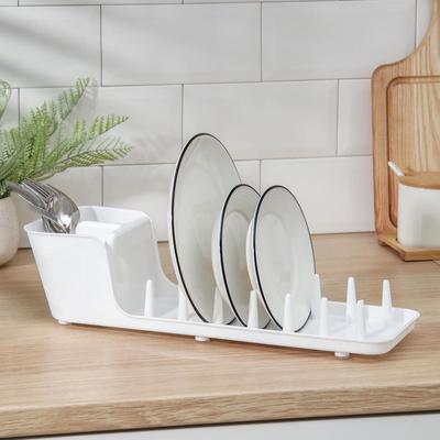 Сушилка для посуды Виолет Mini, 39×12,5×11 см, цвет белый