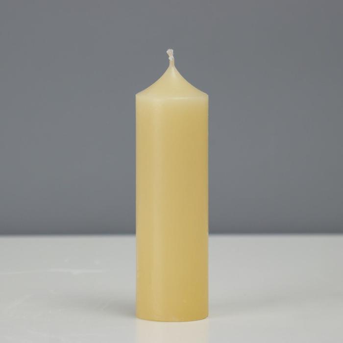 Свеча - цилиндр, 4 х 14.5 см, хозяйственная, 145 грамм