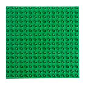 Пластина-перекрытие для конструктора 25,5 х 25,5 × 0.8 см, цвет зелёный Ош