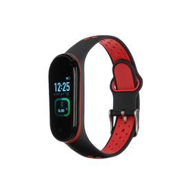 "Фитнес-браслет Smarterra Fitmaster TON, 0.96"", TFT, IP65, NFC, 90 мАч, чёрно-красный Ош"