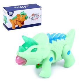 Динозавр «Трицератопс», световые и звуковые эффекты, работает от батареек, МИКС Ош